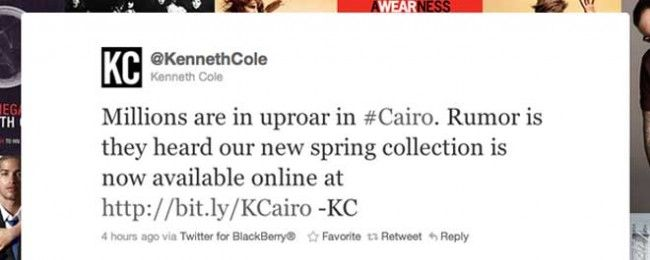 @KennethCole has the Best Timing Ever