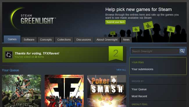 Lots of buzz about Steam's indie release service, good and bad.